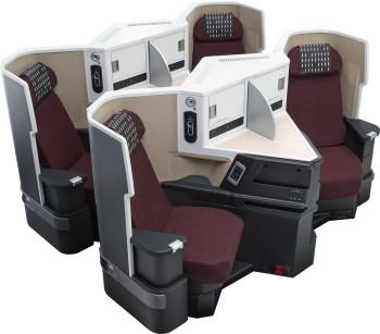 Foto de prensa Japan Airlines. Asientos Business Class