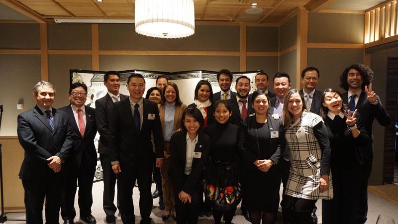 Grupo de becarios del Programa de Invitación a la Comunidad Nikkei, enero de 2018.