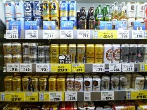 bebidas alcohólicas en convini