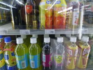 bebidas en botella plástico en convini 02