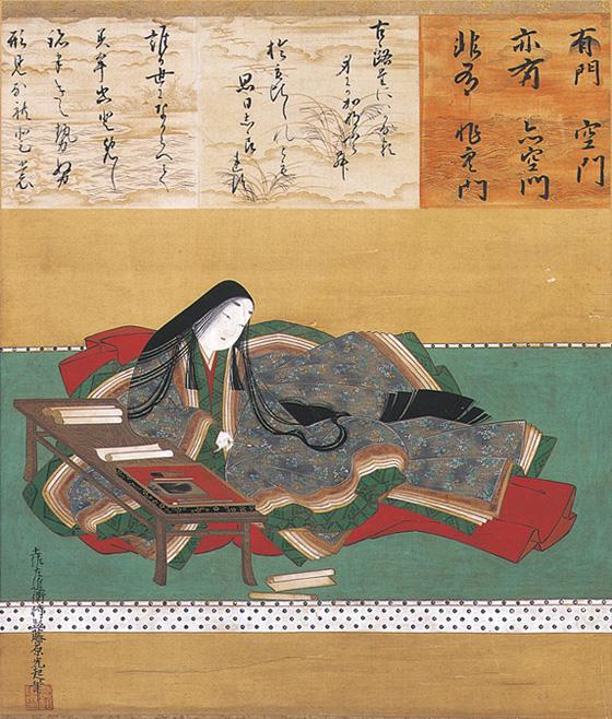 Murasaki Shikibu portrait byTosa Mitsuoki