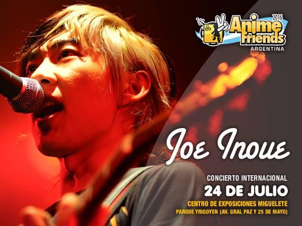 El cantante de rock japonés Joe Inoue llega al Anime Friends 2016. Dará un concierto el 24 de julio. Créditos: Yamato Argentina