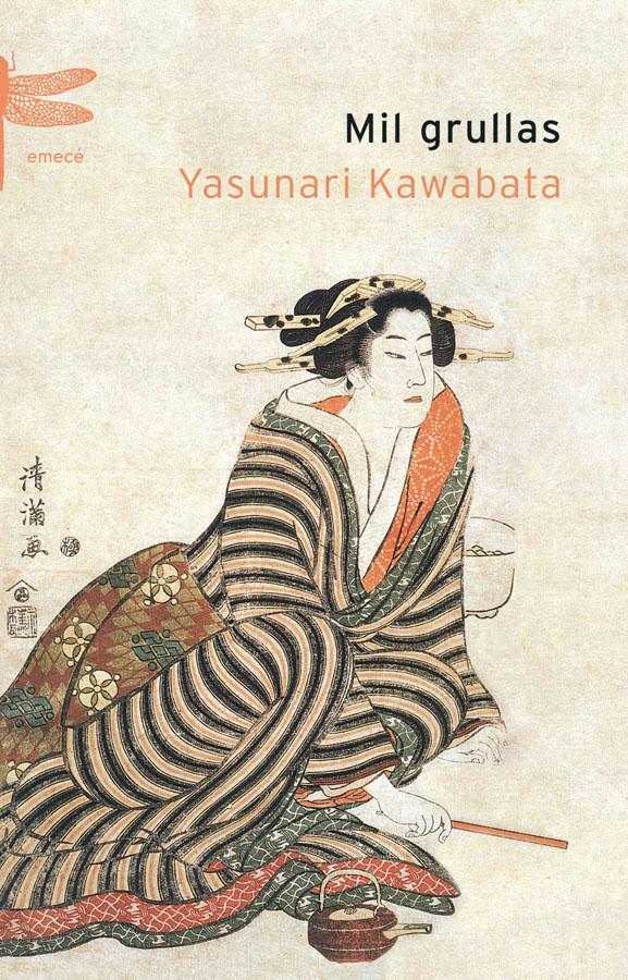 """Tapa de la obra de Kawabata, """"Mil grullas"""", edición emecé."""