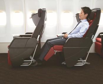 Foto de prensa Japan Airlines. Asientos en Premium Economy.