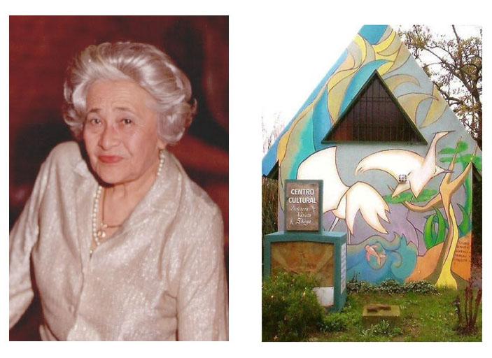Créditos: Archivo Histórico de AJA. Izq. a Der. Violeta Shinya y el Centro Cultural Violeta Shinya