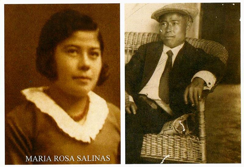 (Der.) Shinzato Shinsei (Izq.) María Rosa Salinas (hija). Foto gentileza de Celia de la Fuente.