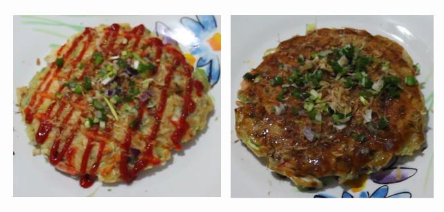 Ejemplos para decorar el Okonomiyaki.