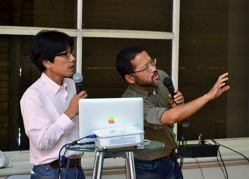 "Dr.Takahashi Hidenori junto al Dr. Keiichi Ohnaka, Gestores de ""TAO"". Foto gentileza de Mario Guardia-Hino Galleguillos."