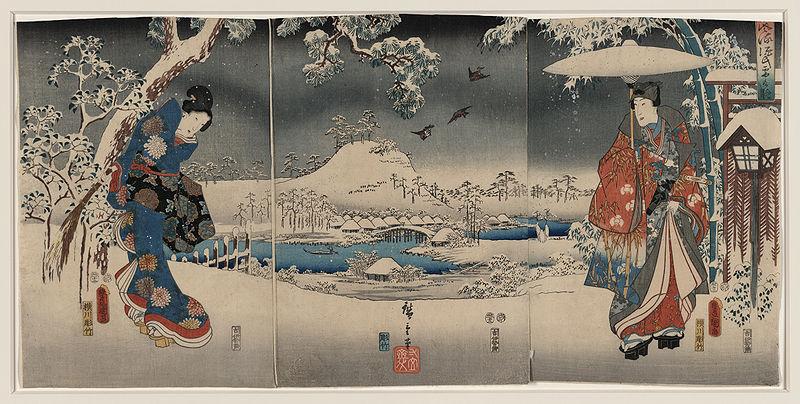 """Escena de Genji Monogatari"" Foto: Utagawa Kunisada (Dominio público) vía Wikimedia Commons"