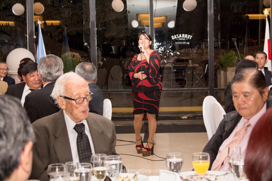 Paula Hamasaki cantó durante le encuentro. Foto: tbo