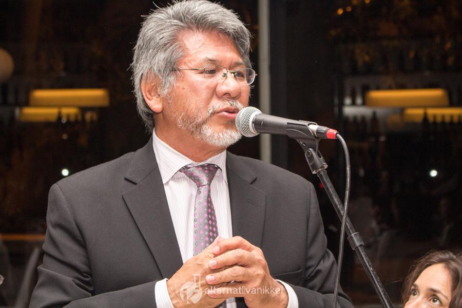 Presidente de la Asociación Japonesa en la Argentina, Sr. Alberto Onaha. Foto: tbo