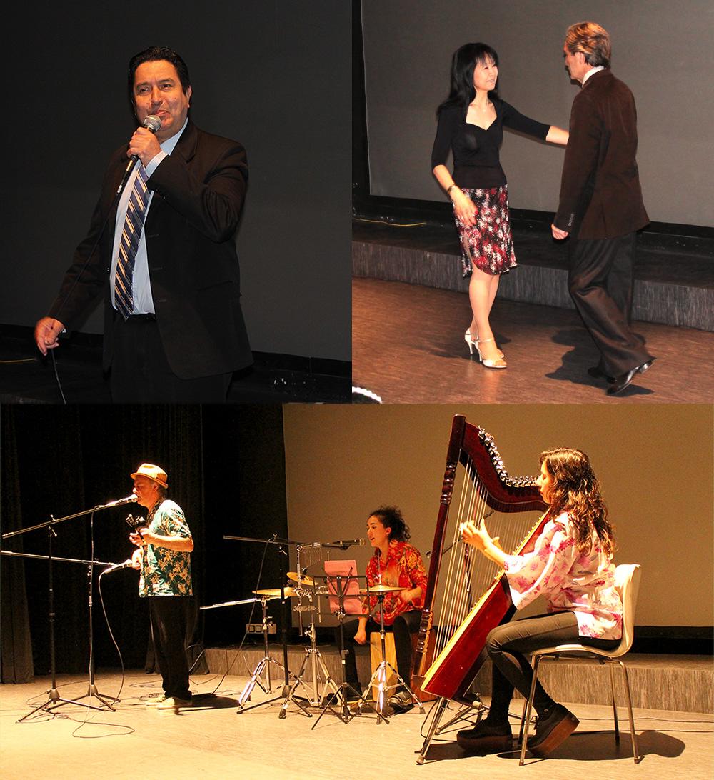 A la izquierda, Pepe Kokubu. A la derecha, Marina Fukuda y Héctor Morra. Foto inferior: grupo Sunawai.