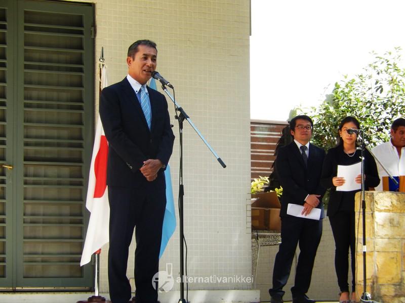 Palabras del Embajador del Japón en la Argentina, Dn Noriteru Fukushima. Foto: Nahuel Murru