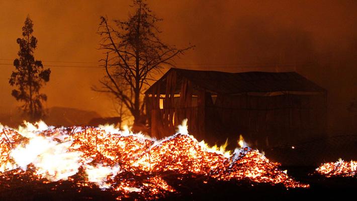 Magnitud de los Incendios Forestales - Gentileza Emol