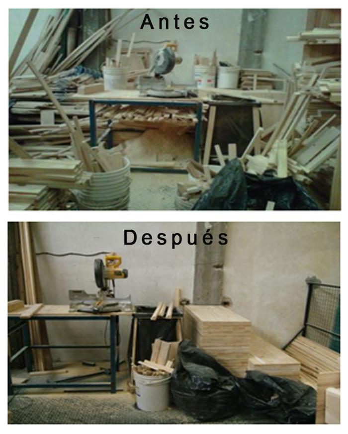 Mejoras por aplicación Kaizen. Antes y después. Foto gentileza de JICA Argentina