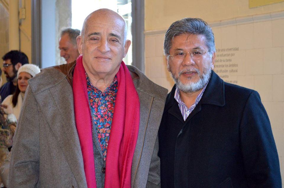 Sr. Aníbal Jozami (Director del Museo de la Inmigración) junto al Sr. Alberto Onaha (Vocal - AJA)