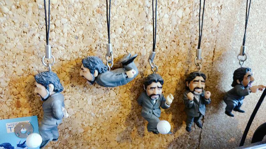 Gashapon de Maradona fabricado por WANDERLUS TOYS. El set completa costa de 6 modelos y salieron a la venta el 16 de julio del 2013.