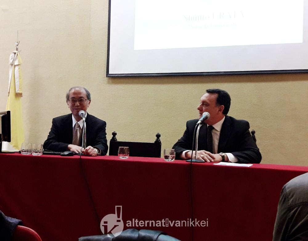 """Conferencia """"Japón y el escenario de la economía y el comercio internacional"""" a cargo del Prof. Shujiro Urata. Foto: Alternativa Nikkei"""