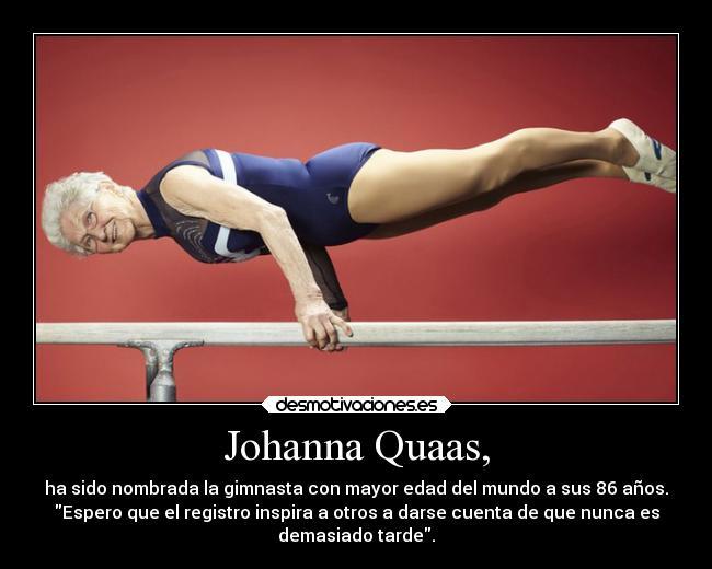 La gimnasta Johanna Quaas. Foto: desmotivaciones.es