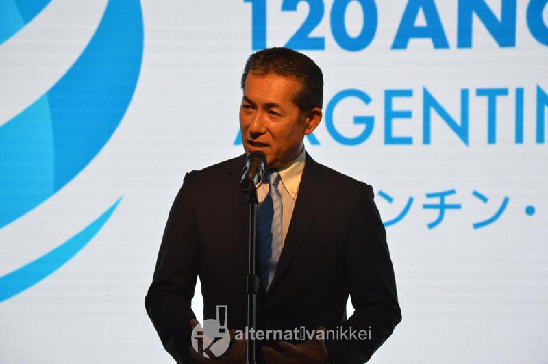 Durante discurso del Sr. Embajador de Japón en Argentina, Dn Noriteru Fukushima. Foto: Panchi Higa