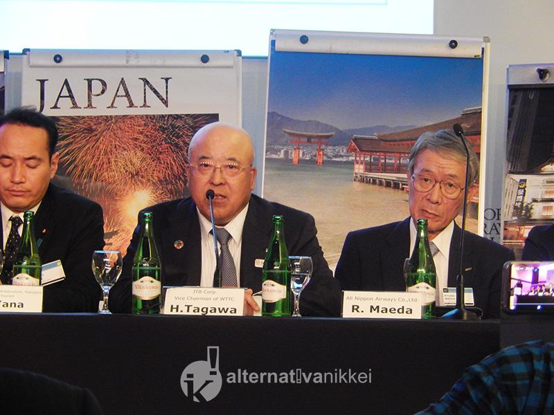 Congreso anual del World Travel & Tourism Council (WTTC). Japan Updates Conference. Palabras del Sr. Hiromi Tagawa, Presidente de la Junta JTB Corp. Foto: M.Laura Martelli.