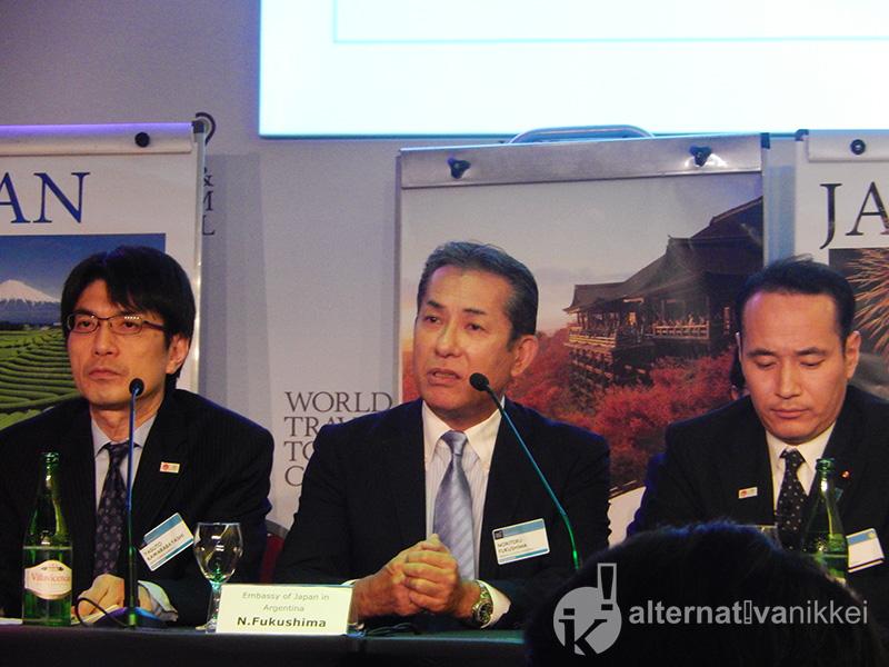 Congreso anual del World Travel & Tourism Council (WTTC). Japan Updates Conference. Palabras del Embajador del Japón en la Argentina, Dn Noriteru Fukushima. Foto: M.Laura Martelli.