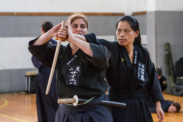 Entrenamiento en el Instituto Niten. Foto Gentileza Marina Saieva.