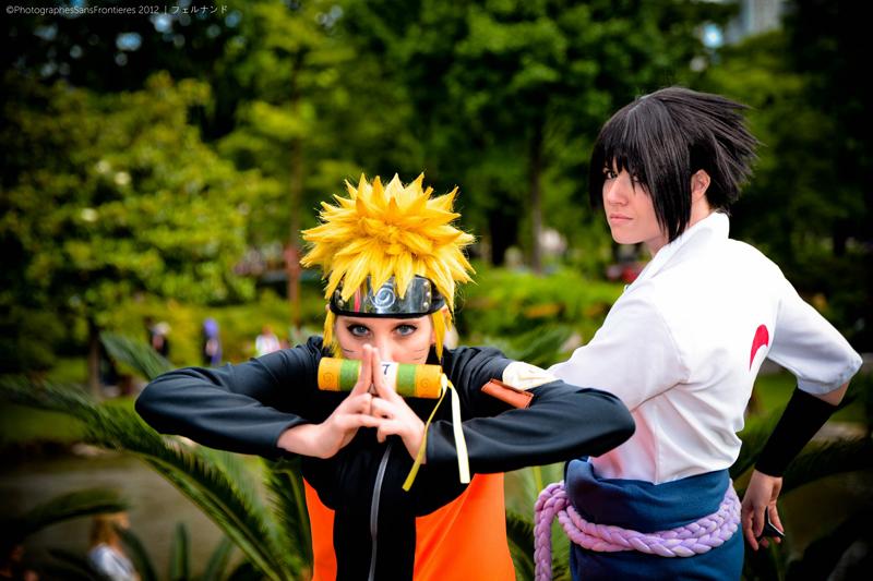Cosplay en el Jardín Japonés.